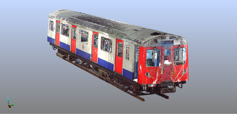Large volume 3D capture of a London Underground Train carriage