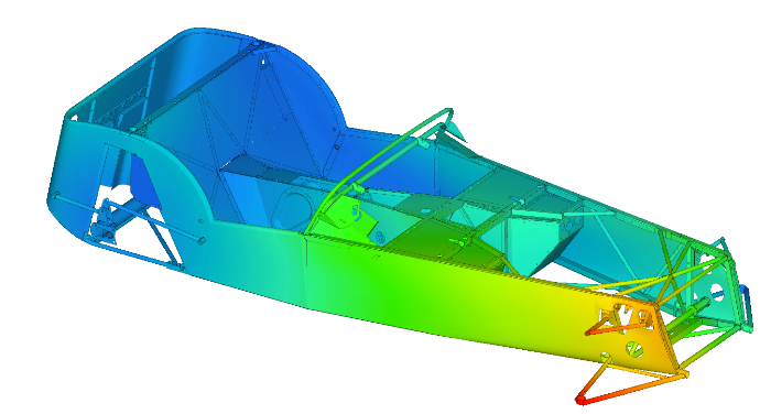 Detailed FEA model of the Caterham 7
